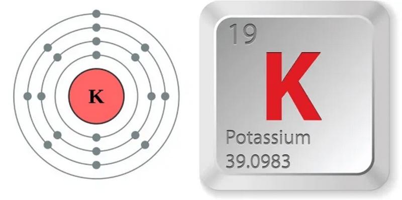 simbol kimia unsur kalium (K)
