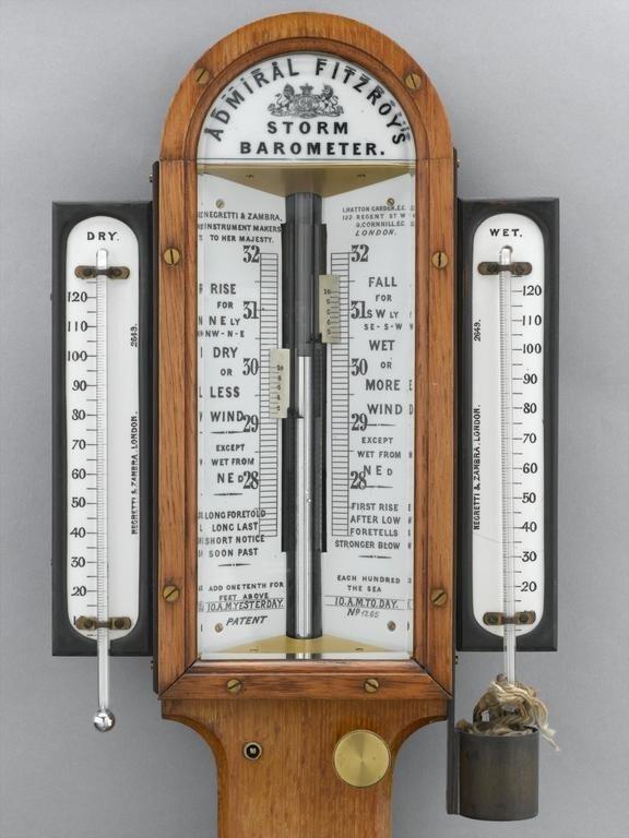 barometer air raksa antik merk admiral fitzroy's