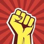 kepalan tangan simbol perjuangan komunisme dan sosialisme
