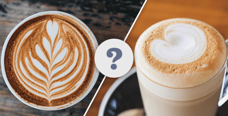 secangkir latte dan cappuccino dengan latte art