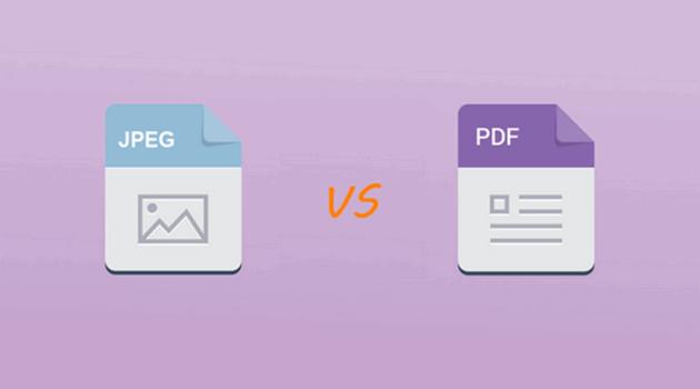 Perbedaan antara File PDF dan JPEG