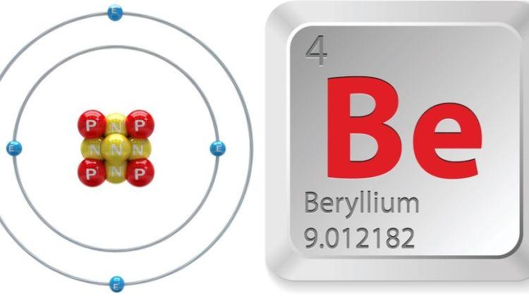 simbol kimia dan nomor atom unsur berilium