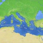 peta laut mediterania (laut tengah)