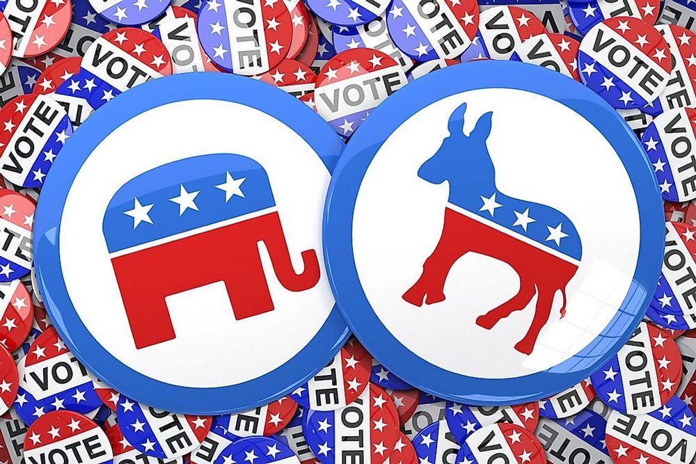 logo partai republik dan partai demokrat amerika serikat