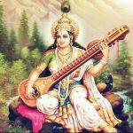 lukisan dewi hindu, saraswati
