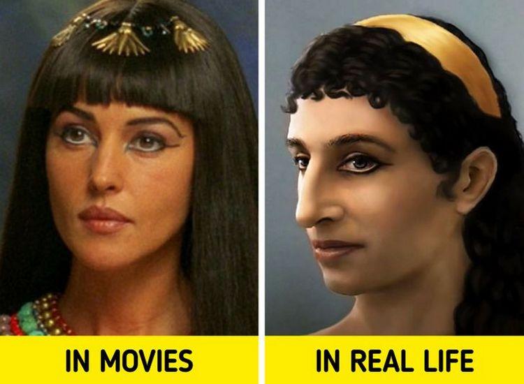 wajah cleopatra dalam film vs. wajah sesungguhnya