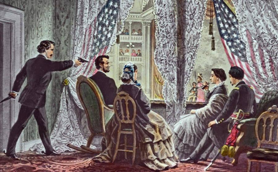 Pembunuhan Presiden Abraham Lincoln di Ford's Theatre tahun 1865