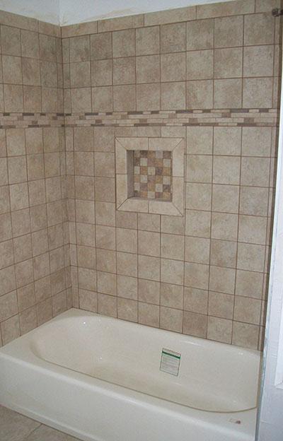 New Bath Tile renovation