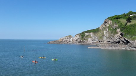 Kayaking in Combe Martin Bay