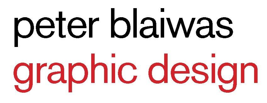 peter blaiwas graphic des. logo