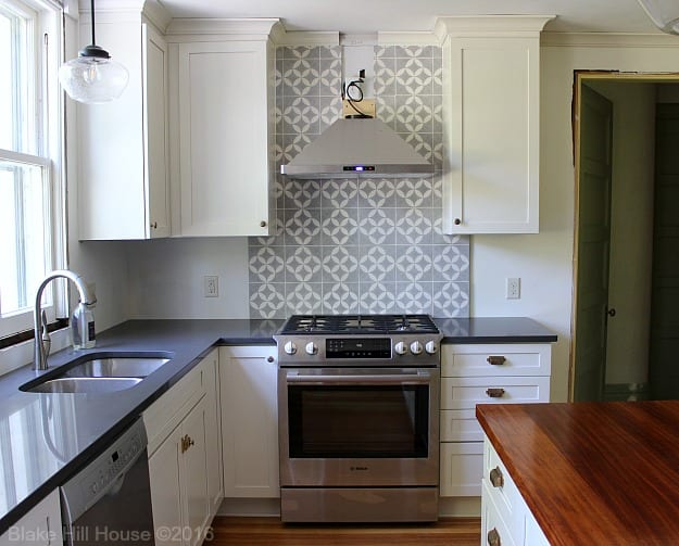 Cement Tile Backsplash Do it yourself Blake Hill House