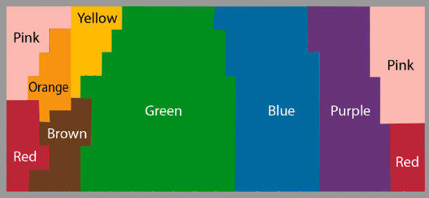 English speakers color map