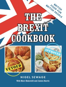 Cover image of the Brexit Cookbook. A croissant is vetoed and fish and chips is approved