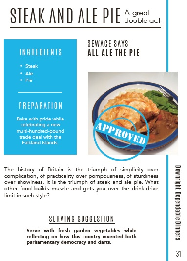 Excerpt from Brexit Cookbook: recipe for Steak and Ale pie