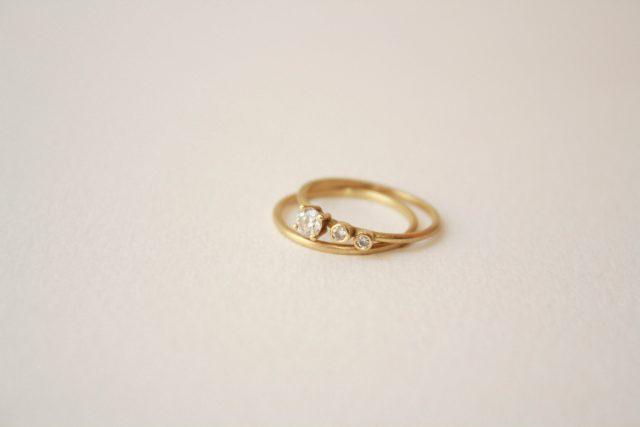 anillo oro diamantes compromiso artesanal barcelona diferente original blanca torà micheli