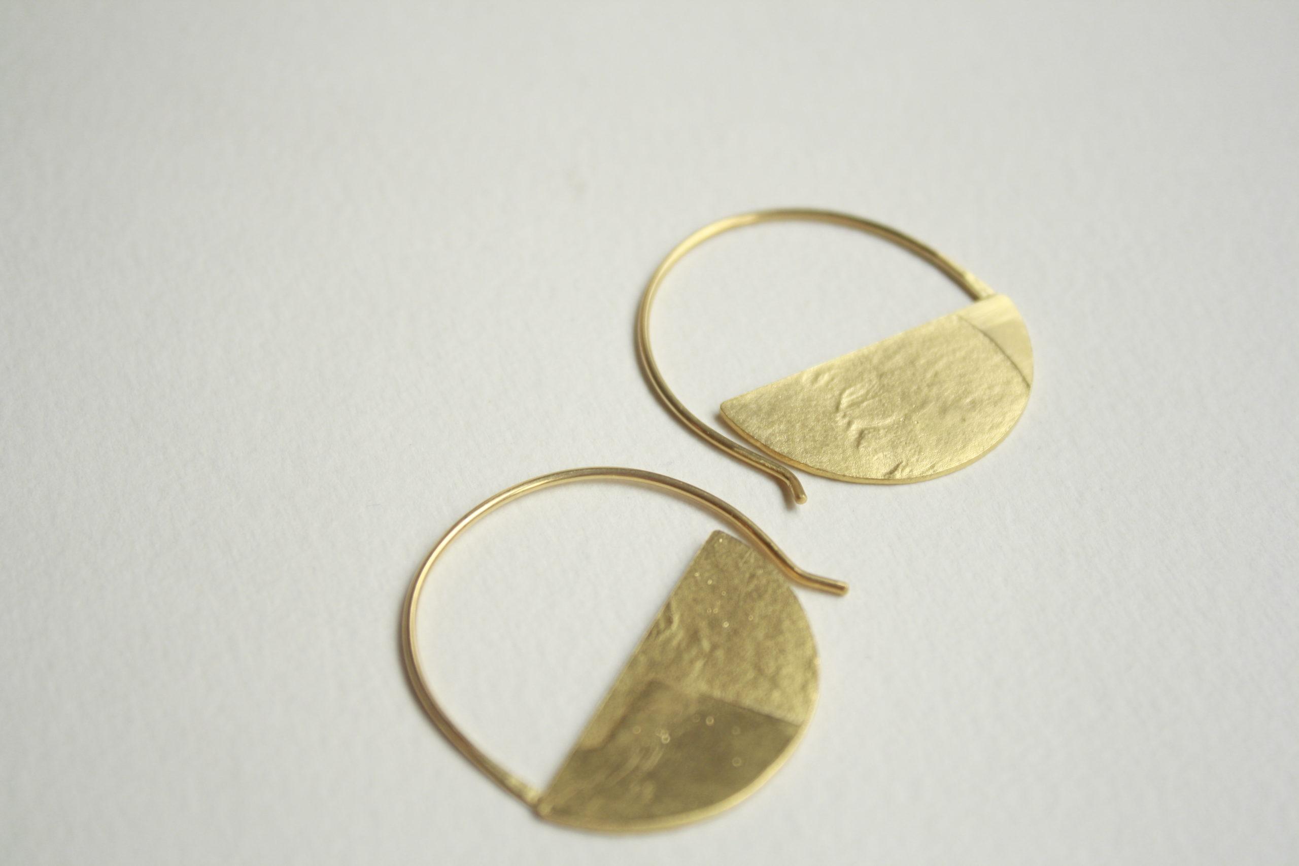 Criollas de oro con textura media luna