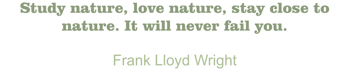 Blanchard Quote Frank Lloyd Wright