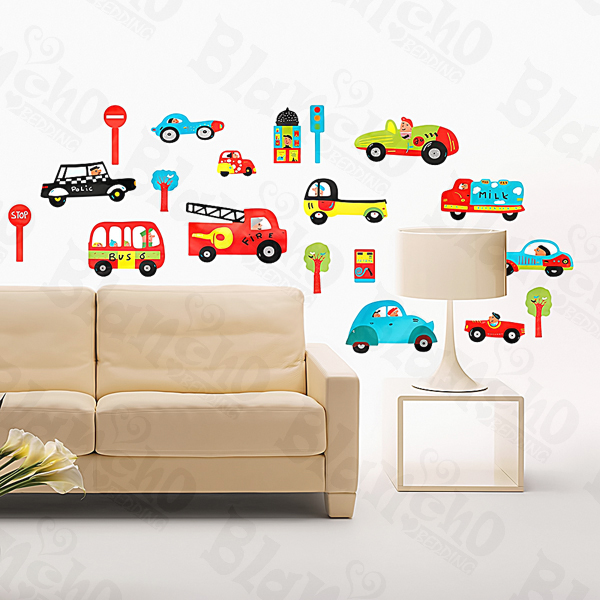 Cars & Signs Large Wall Decals For Kids