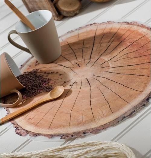 lot de sets de table rondin de bois