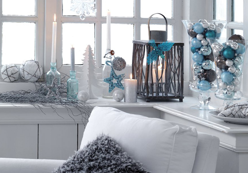 Deco Noel Blanc Et Bleu