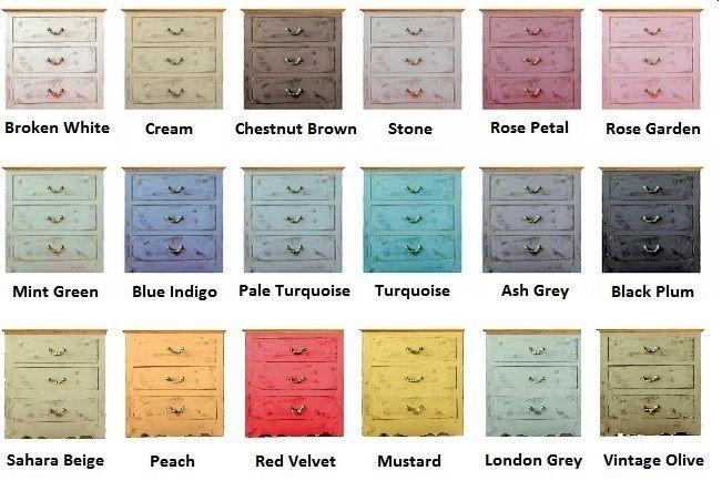 colores de pintura a la tiza