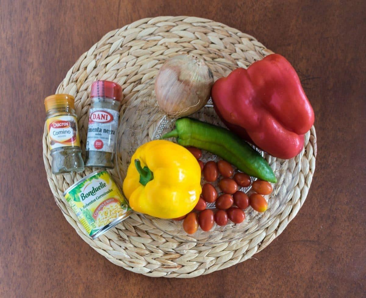 Receta de ensalada de lentejas - ingredientes