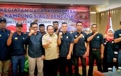 Dinsos Gelar Rapat Koordinasi Kampung Siaga Bencana (KSB) Se-Aceh