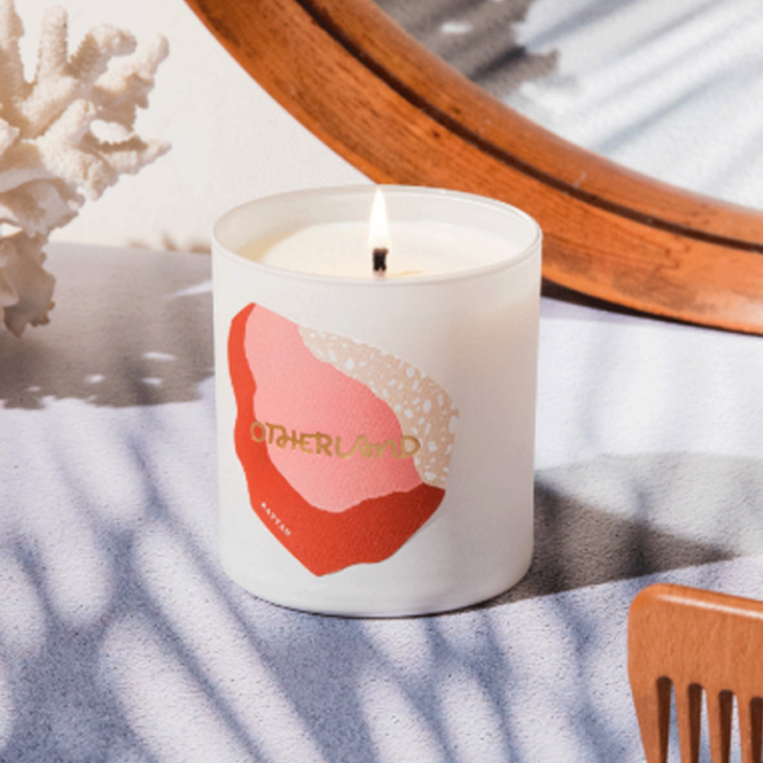 otherland rattan candle - blankbox gift guide