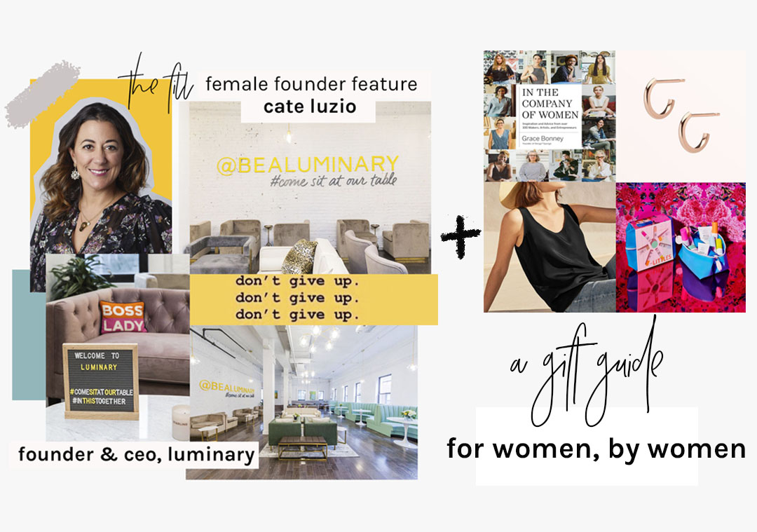 cate luzio - female founder feature the fill