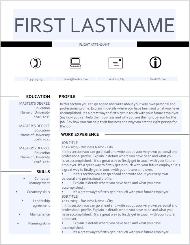 fillable resume PDF form