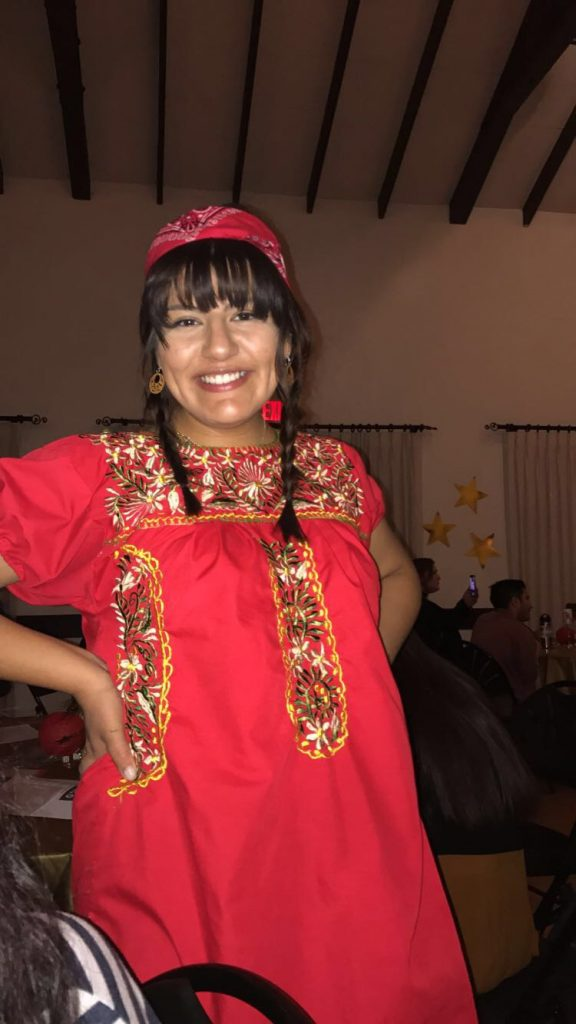 Dollie Partida in a native attire