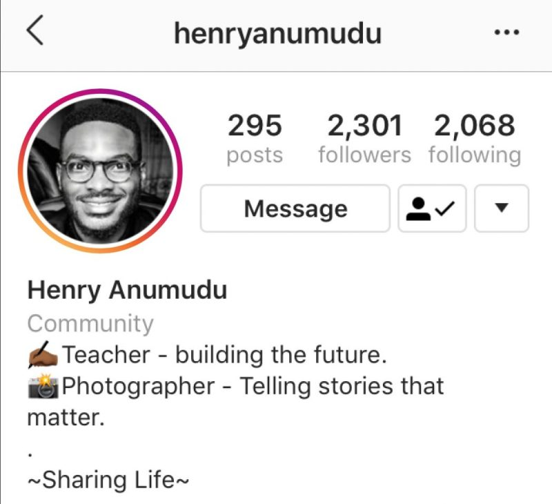 Henry Anumudu of Teach for NIGERIA