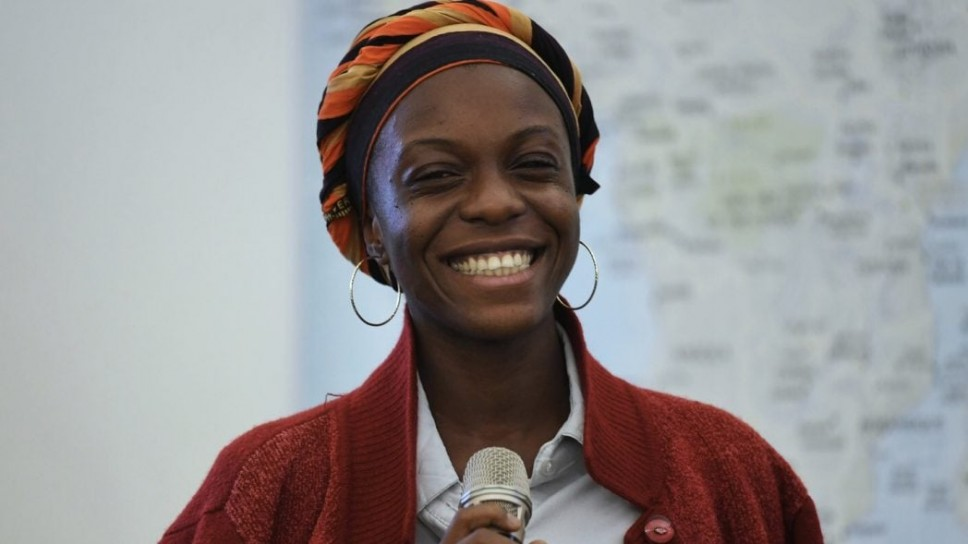 Mirabelle Morah speaking at Salzburg Global Seminar