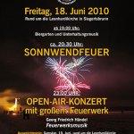 """Sonnwendfest 2010 """"Feuerwerksmusik mit Feuerwerk"""""""