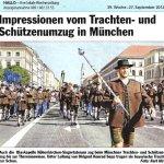 Impressionen vom Trachen- und Schützenumzug in München (Hallo 27.9.2012)