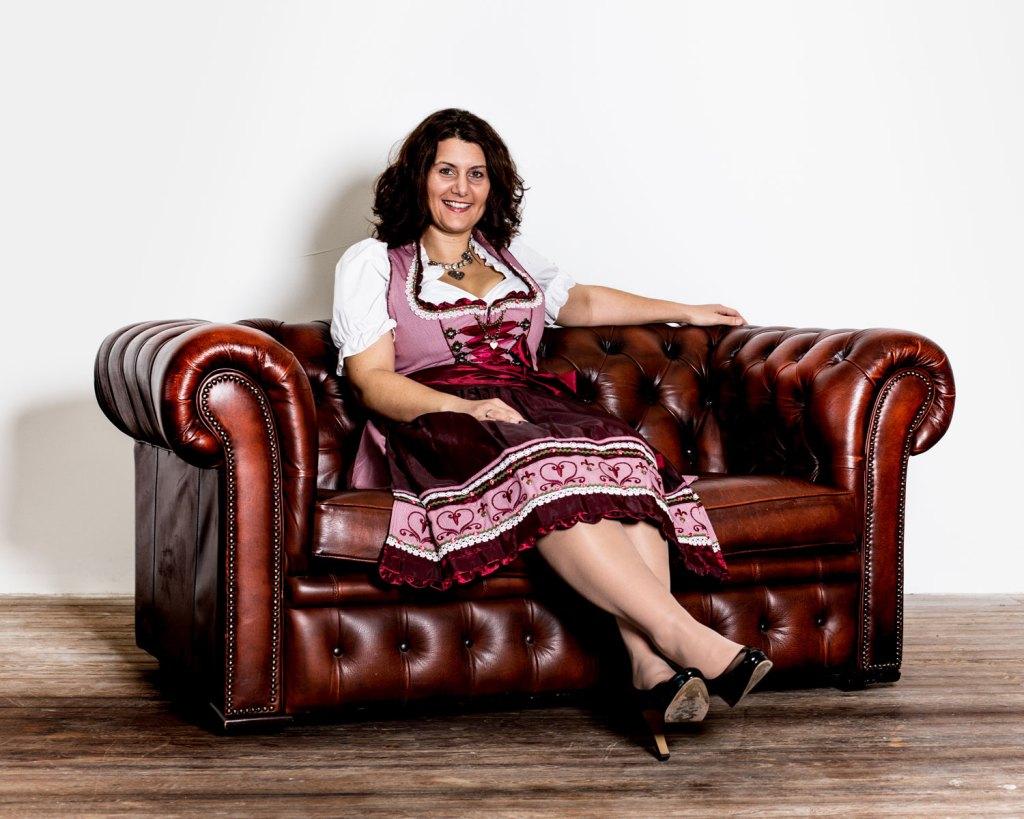Claudia Erlenbusch Sängerin der Blaskapelle Charivari