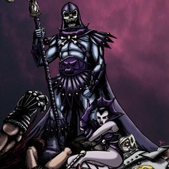Skeletor fan art pour le site Buzzcomics