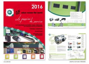 Catalogue de 488 pages réalisé pour un distributeur d'automatismes de portes pour les professionnels