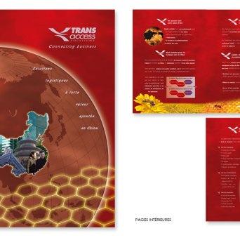 Plaquette réalisée pour une agence spécialisée dans l'import/export avec la Chine
