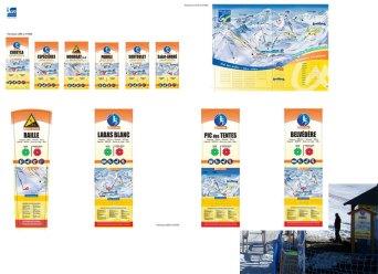 Plan de pistes pour la station de ski du Grand-Bornand