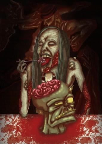 Femme zombie pour le site Café Salé