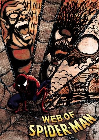 """Couverture pour le concours """"Spider-Man"""" du Comicon Paris 2018 (dessin retenu dans les 30 derniers finalistes)"""
