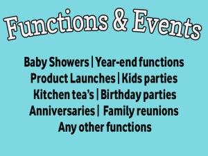 Functions at Blasters Mossel Bay