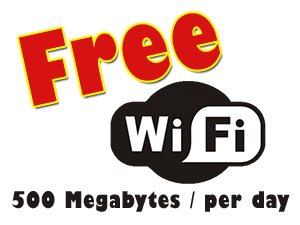Free WIFI at Blasters Mossel Bay