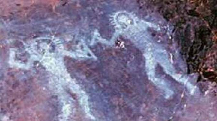 Alien Cave Painting