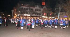 Großer Zapfenstreich auf dem Marktplatz in Siegburg 2008