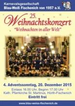 Plakat Weihnachtskonzert 2015