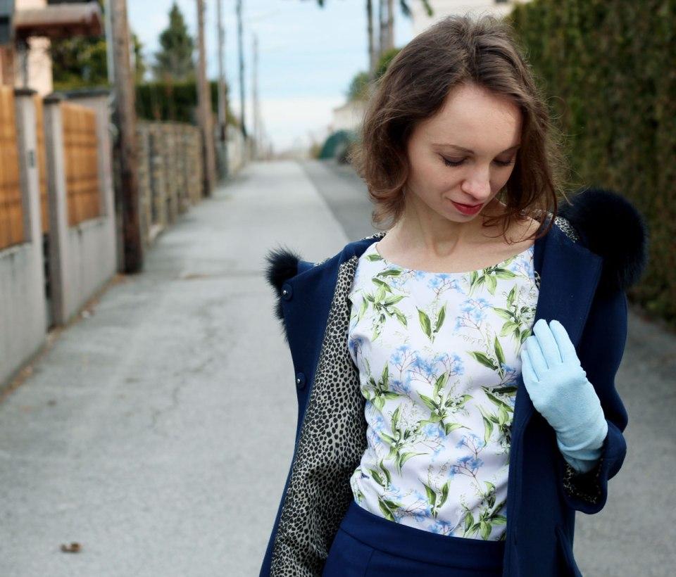 Handmade babyblue Suede Gloves