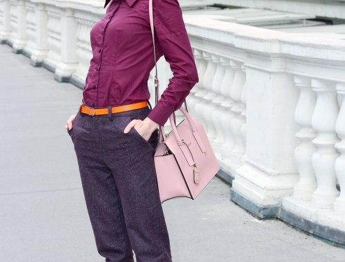 Hose aus Woll-Seiden Mischung, Tweed