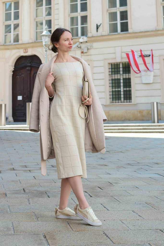 Outfit Monochrom Kleid Thelma